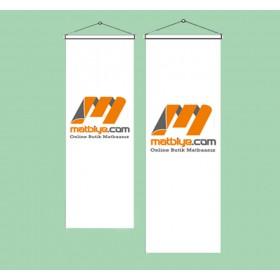 50x100 Kırlangıç Düz Kesim Bayrak Özel Logolu
