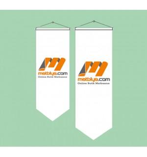 50x100 Kırlangıç Üçgen Bayrak Özel Logolu