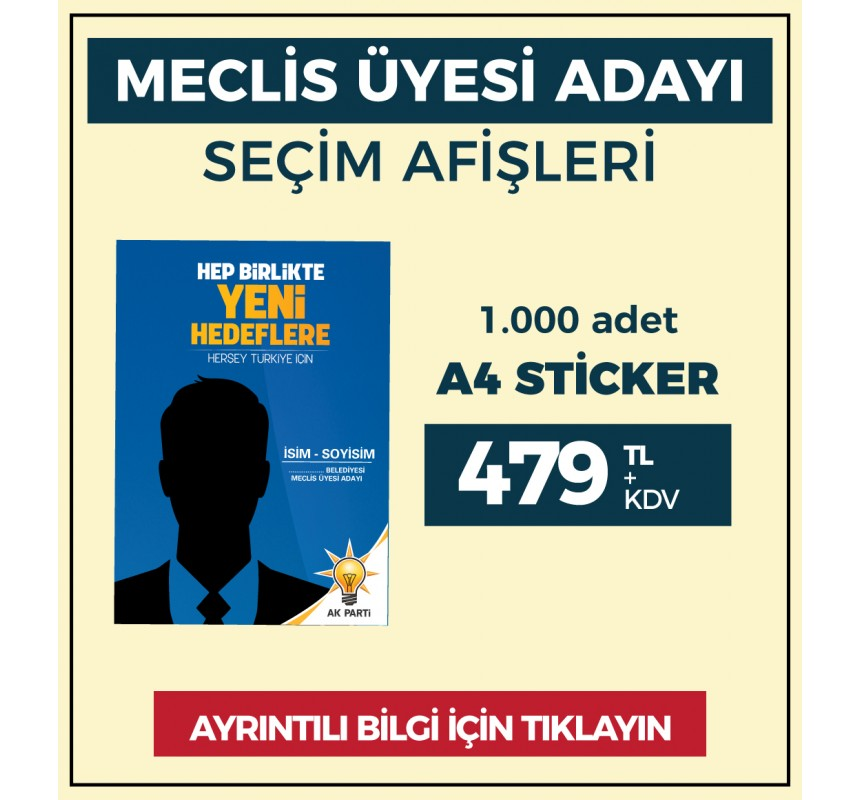 A4 - Çıkartma Etiket / STİCKER - ( 1.000 Adet ) - SEC-26420