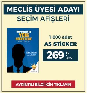 A5 - Çıkartma Etiket / STİCKER - ( 1.000 Adet ) - SEC-26410