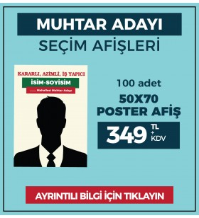 50x70 - POSTER AFİŞ -  ( 100 Adet ) - SEC-27220