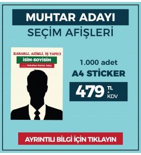 A4 - Çıkartma Etiket / STİCKER - ( 1.000 Adet ) - SEC-27420