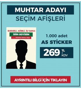 A5 - Çıkartma Etiket / STİCKER - ( 1.000 Adet ) - SEC-27410