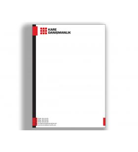 ANE-11001 - A5 - ANTETLİ KAĞIT- 80. Gr. 1. Hamur