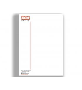 ANE-11004 - A5 - ANTETLİ KAĞIT- 80. Gr. 1. Hamur