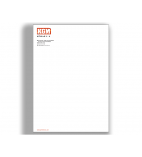 ANT-11005  - A4 - ANTETLİ KAĞIT- 80. Gr. 1. Hamur