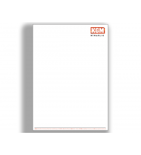 ANE-11006- A5 - ANTETLİ KAĞIT- 80. Gr. 1. Hamur
