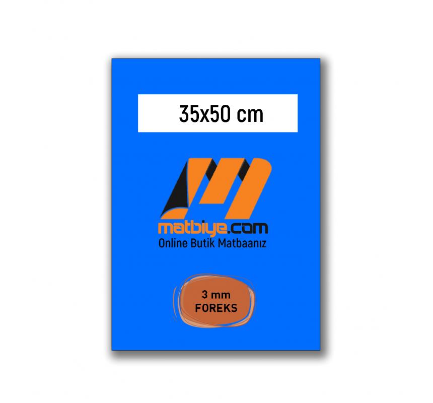 Boş Şablon - 35x50 FOREKS - 3 mm FOREKS - (1 Adet) - FR3-14017