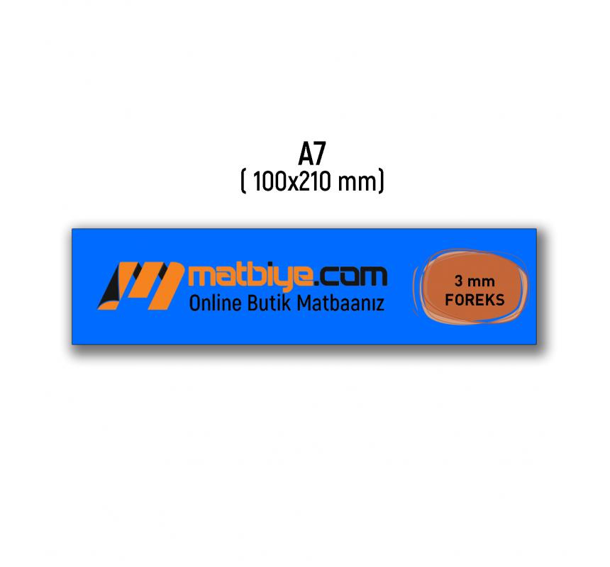 Boş Şablon - A7 FOREKS - 3 mm FOREKS - (2 Adet) - FR3-14014